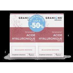 GRANIONS ACIDE HYALURONIQUE - Lot de 2x60 Gélules