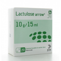 LACTULOSE ARROW 10 g/15 mL - 20 sachets doses de 15 ml