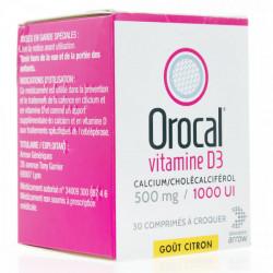 OROCAL VITAMINE D3 500 mg/1 000 UI Comprimé à croquer boîte de