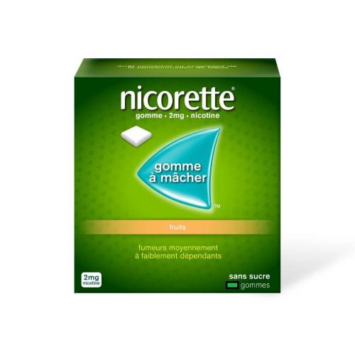 NICORETTE Fruits 2 mg - 105 Gommes