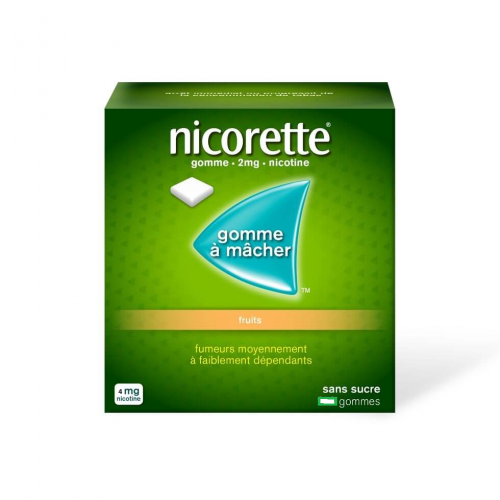 NICORETTE Fruits 4 mg - 105 Gommes