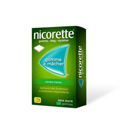 NICORETTE Menthe Fraîche 2 mg - 105 Gommes