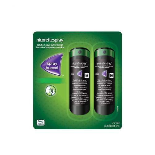 NICORETTESPRAY FRUITS ROUGES 1 mg/dose - 2 Sprays