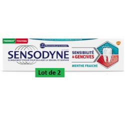 SENSODYNE DENTIFRICE Sensibilité & Gencives Menthe Fraiche Lot
