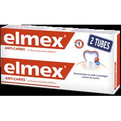 ELMEX ANTI-CARIES DENTIFRICE - Lot de 2x75ml