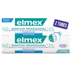 ELMEX SENSITIVE PROFESSIONAL BLANCHEUR DENTIFRICE Lot de 2x75ml