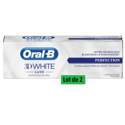 ORAL-B DENTIFRICE 3D WHITE Luxe Perfection - Lot de 2x75ml