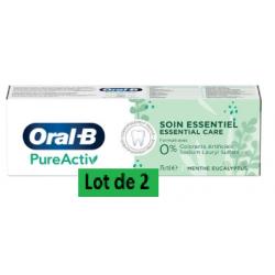 ORAL-B PURE ACTIV DENTIFRICE - Lot de 2x75ml
