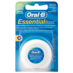 ORAL-B ESSENTIAL FLOSS Fil dentaire Ciré et Mentholé - 50m