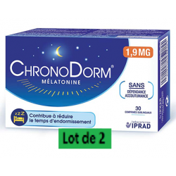 CHRONODORM MELATONINE 1.9mg - Lot de 2x30 Comprimés sublinguaux