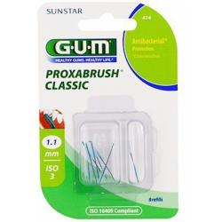 GUM PROXABRUSH CLASSIC 414 Recharges Brossette 1.1mm – 8 Unités