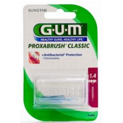 GUM PROXABRUSH CLASSIC 612 Recharges Brossette 1.4mm – 8 Unités