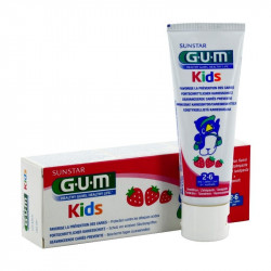 GUM DENTIFRICE KIDS Enfant 2-6 ans Fraise - Lot de 2x50ml
