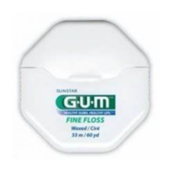 GUM FIL DENTAIRE FINE FLOSS 1555 Waxed Ciré 55m