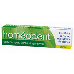 HOMEODENT DENTIFRICE SOIN COMPLET DENTS & GENCIVES Citron 75ml