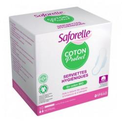 SAFORELLE COTON PROTECT - 10 Serviettes Hygiéniques