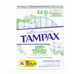 TAMPON TAMPAX COTTON REGULIER 16