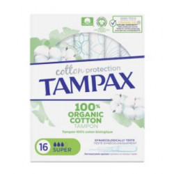 TAMPAX COTTON TAMPONS SUPER 16