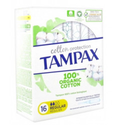 TAMPAX COTTON TAMPONS Regulier 16