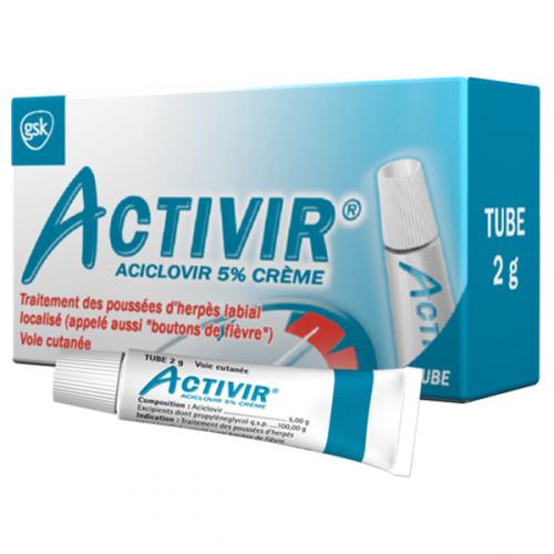 ACTIVIR 5% Crème Tube 2g