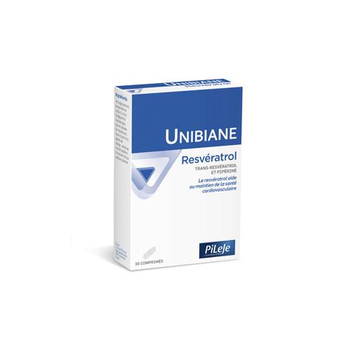 PILEJE UNIBIANE Resveratrol - 30 Comprimés
