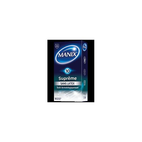 MANIX PRESERVATIF SUPRÊME Sans Latex - 12 Préservatifs