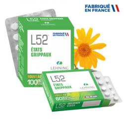 LEHNING L52 Etats Grippaux - 60 Comprimés Orodispersibles