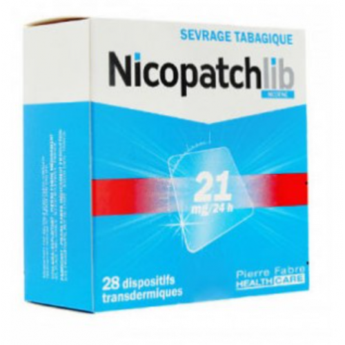 NICOPATCHLIB 21 mg/24 heures, dispositif transdermique, boîte