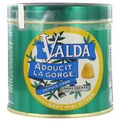 VALDA Gomme Miel Citron Sans Sucre 160G
