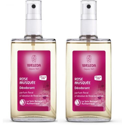 WELEDA ROSE Déodorant Spray - Lot de 2x50ml
