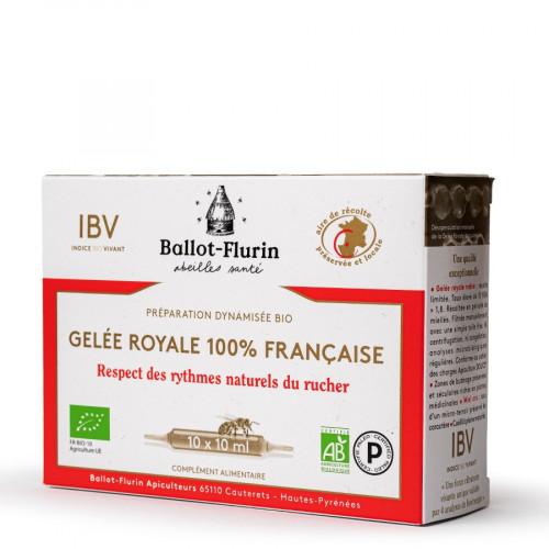 BALLOT FLURIN GELEE ROYALE 100% Française - 10 Ampoules