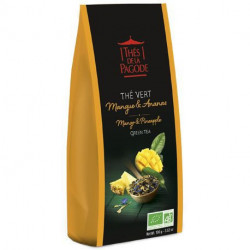 THES DE LA PAGODE Thé Vert Mangue & Ananas 100 g