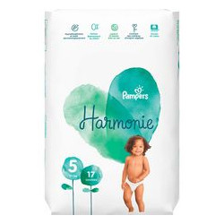 PAMPERS COUCHES HARMONIE Taille 5 (+ de 14kg) - 58 Changes