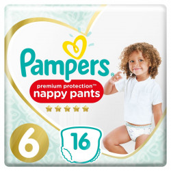 PAMPERS PREMIUM PROTRECTION NAPPY PANTS Taille 6 (+16kg) - 16