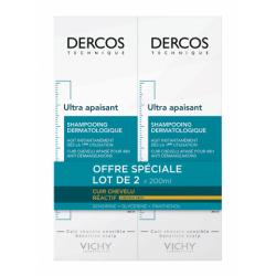 Vichy Dercos Shampooing Ultra Apaisant cheveux secs Lot 2 X