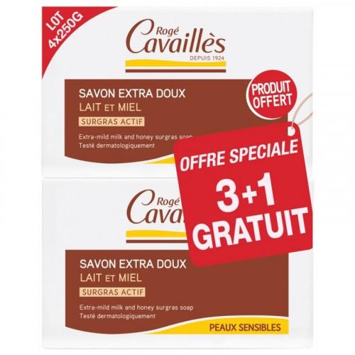 Rogé Cavaillès Savon Surgras Extra Doux Lait de Rose 250 g -