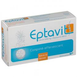 EPTAVIT 1 000 mg/880 UI Comprimé effervescent boîte de 1 tube