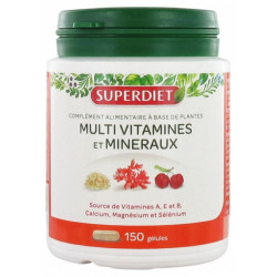 SUPERDIET Multivitamins Minerals - 150 Gélules