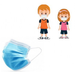 Masque Médical Jetable 3 Ply - TAILLE ENFANT x50 Unités