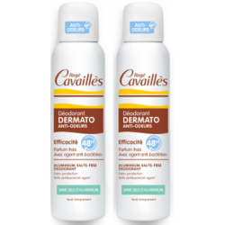 CAVAILLES DEODORANT DERMATO 48H SPRAY - LOT DE 2 X 150 ML