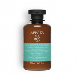 APIVITA SHAMPOOING CHEVEUX GRAS POINTE SECHE - 250 ml