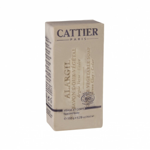 CATTIER SAVON DOUX VÉGÉTAL ALARGIL BIO -150 g