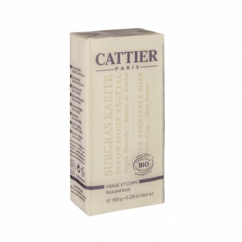 CATTIER SAVON DOUX VÉGÉTAL SURGRAS KARITÉ -150 g
