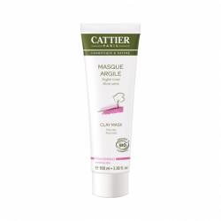 CATTIER MASQUE ARGILE ROSE BIO - 100 ml