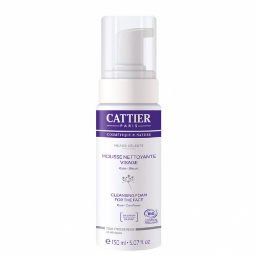 CATTIER MOUSSE NETTOYANTE VISAGE BIO - 150 ml