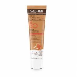 CATTIER CRÈME PROTECTION SOLAIRE TEINTÉE SPF 50 - 40 ml