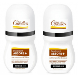 CAVAILLES DÉODORANT ABSORB+ Invisible 48h - Roll-on Lot de