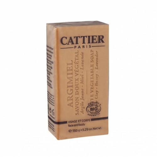 CATTIER SAVON DOUX VÉGÉTAL ARGIMIEL - 150 g