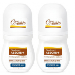 CAVAILLES DÉODORANT ABSORB+ 48h - Roll-On Lot de 2x50ml