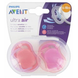 PHILIPS ULTRA AIR 6-18 MOIS ROSE: 2 Sucettes